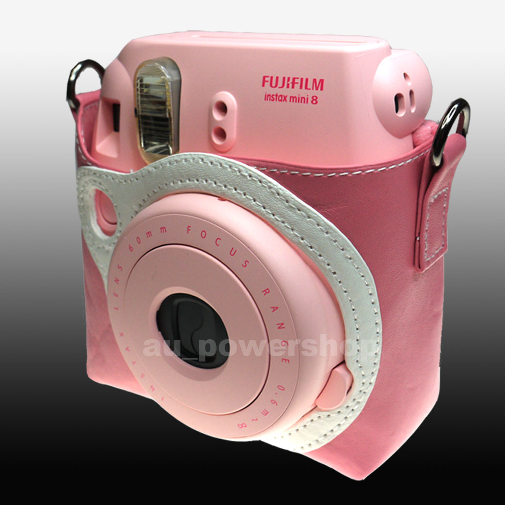 fujifilm fuji instax mini 8 photo camera protect case bag pink ebay. Black Bedroom Furniture Sets. Home Design Ideas